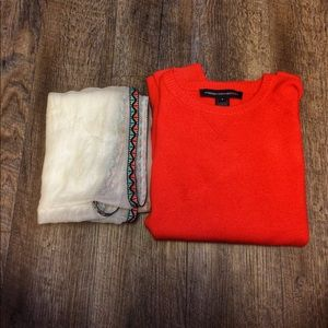 French Connection Sweaters - orange french connection stretchy sweater small